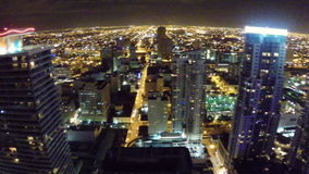Downtown Miami at night 360 Royalty Free Stock Image