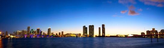 Downtown Miami panorama Stock Photo