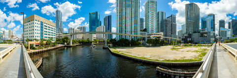 Downtown Miami Panorama Stock Images