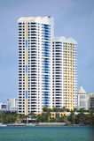 Downtown Miami's multi-color skyline Royalty Free Stock Photography