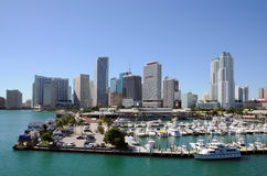 Downtown Miami Skyline Stock Image