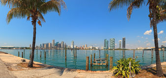 Downtown Miami Skyline Panorama Royalty Free Stock Photography