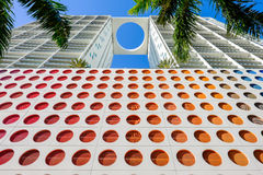 Downtown Miami. Skyward view of the Brickell area in downtown Miami Royalty Free Stock Photo