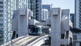 Downtown Miami train in Brickle Stock Images