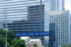 Downtown Miami urban city skyscrapers buildings Royalty Free Stock Photo