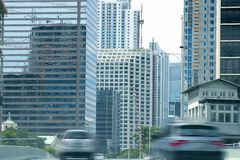 Downtown Miami urban city skyscrapers buildings Stock Images
