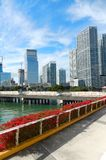 Downtown Miami view along Biscayne Bay Royalty Free Stock Photos
