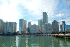 Downtown Miami view along Biscayne Bay Royalty Free Stock Images