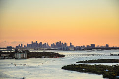 Downtown Miami. View of downtown miami over biscayne bay royalty free stock photo