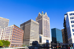 Downtown Milwaukee. With Blue Sky Royalty Free Stock Image