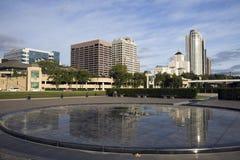 Downtown Milwaukee reflected Stock Photos