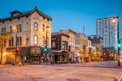 Downtown Milwaukee Wisconsin in USA royalty free stock image