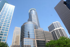 Downtown Minneapolis. Modern office buildings in downtown Minneapolis, USA royalty free stock photos