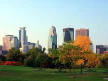 Downtown Minneapolis. In fall season Stock Photos