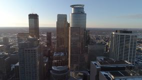 Downtown Minneapolis From Above stock video