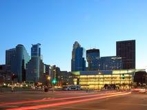 Downtown Minneapolis at dusk Stock Image