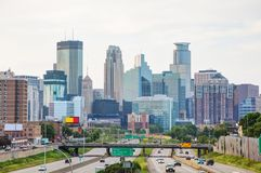 Downtown Minneapolis, Minnesota. Early in the morning royalty free stock photography