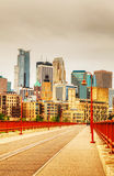 Downtown Minneapolis, Minnesota in the evening Royalty Free Stock Photography