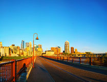 Downtown Minneapolis, Minnesota in the morning Stock Photography