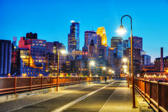 Downtown Minneapolis, Minnesota at night time Royalty Free Stock Photo
