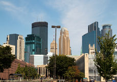 Downtown City of Minneapolis, Minnesota Royalty Free Stock Images