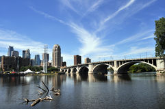 Downtown Minneapolis skyline Royalty Free Stock Photos