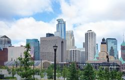 Downtown Minneapolis skyline Royalty Free Stock Image