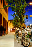 Downtown Missoula at night. At Montana, USA stock images