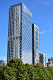 Downtown modern Towers of Chicago, Illiois. Chicago city urban street view and transportation. Photo taken in October 6th, 2014 Royalty Free Stock Images