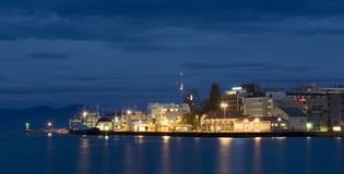 Downtown Molde. In the early morning royalty free stock photo