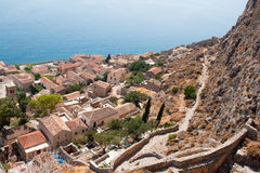 Downtown Monemvasia Stock Photos