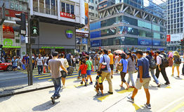 Downtown mongkok, hong kong Stock Image