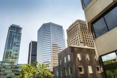 Downtown Montreal stock photo