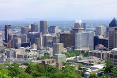 Downtown Montreal from Mount Royal, Quebec stock photos