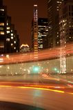 Downtown Montreal at night stock photos