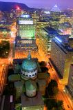 Downtown Montreal At Night Stock Photography