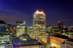 Downtown Montreal at night Stock Photos