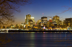 Montreal at dusk. Royalty Free Stock Image
