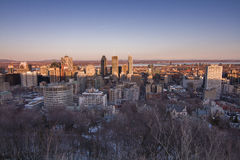 Montreal sunset Royalty Free Stock Photography