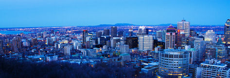 Downtown of Montreal panorama Royalty Free Stock Photo
