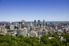 Downtown Montreal on a summer day Stock Image