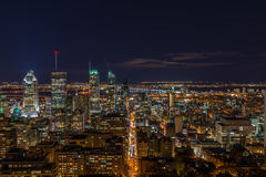 Downtown Montreal stock photography