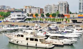 Downtown Montreal Waterfront in Quebec, Canada Stock Photos