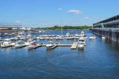 Downtown Montreal Waterfront Royalty Free Stock Image