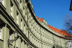 Downtown munich. Unusual shaped building Royalty Free Stock Photos
