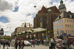 Downtown Munich, Bavaria, Germany Royalty Free Stock Photo
