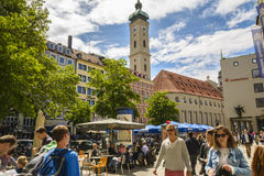Downtown Munich, Bavaria, Germany Royalty Free Stock Images