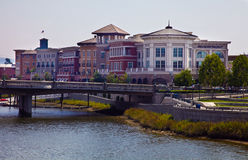 Downtown Napa Riverfront Buildings Royalty Free Stock Images