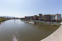 Downtown Napa Riverfront Buildings royalty free stock photo