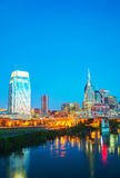 Downtown Nashville cityscape in the morning Royalty Free Stock Photo